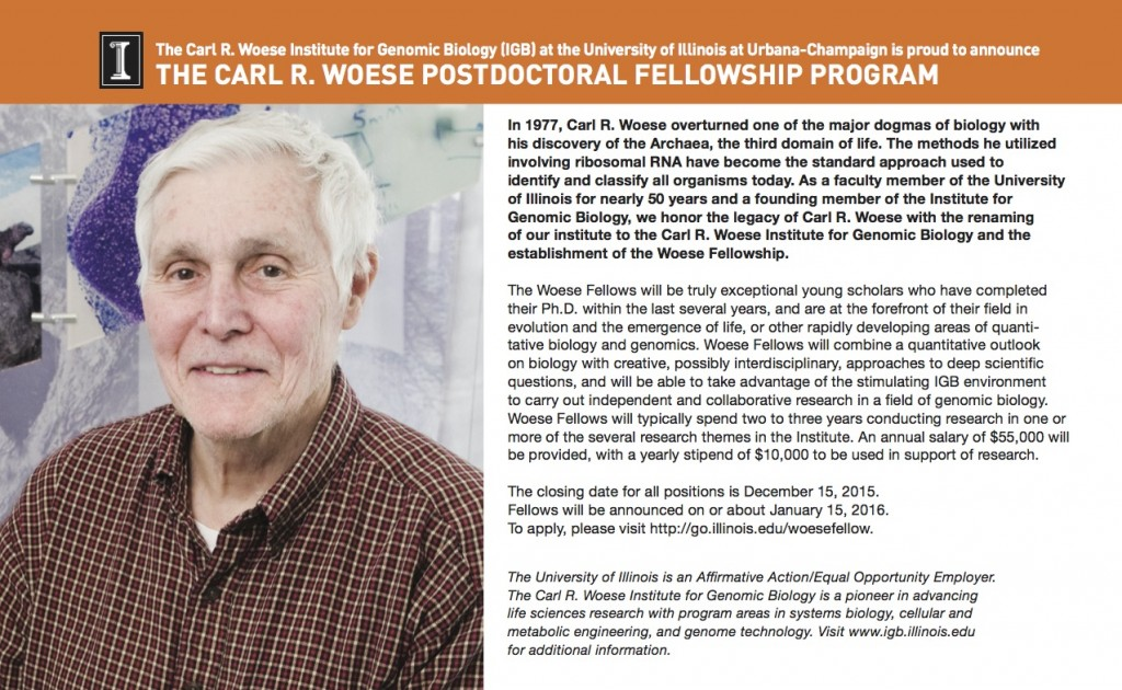 Woese Fellowship