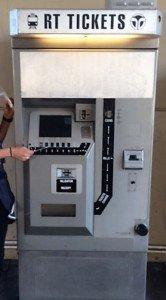 Swabbing Sacramento's ticket machine.