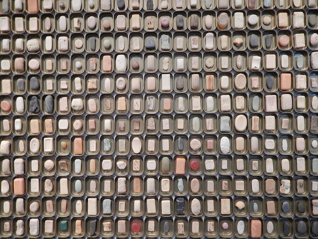 A mosaic of used bar soaps; via Flickr under public domain license