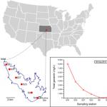Map of Cheney Reservoir sampling sites