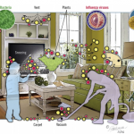 Sources of airborne pathogens indoors and potential for environmental surface contamination