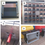Photographs of the ultrasonic anti-fouling testing apparatus.