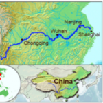 The course of the Yangtze River through China. Source: Wikipedia.
