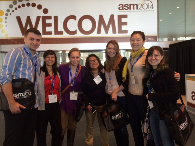 Attending the general meeting of the American Society of Microbiology in Boston in May 2014