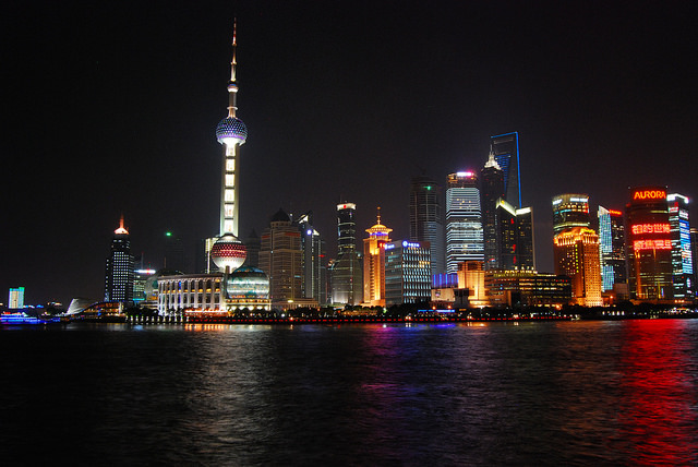 Shanghai, China. Via Flickr under the creative commons public domain license.