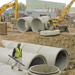 Concrete pipes, County Materials, Wisconsin
