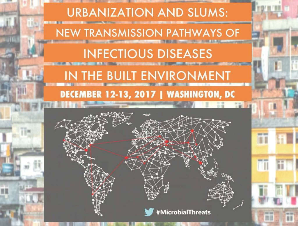 Save the date: Dec 12-13 workshop on infectious diseases in the urban built environment