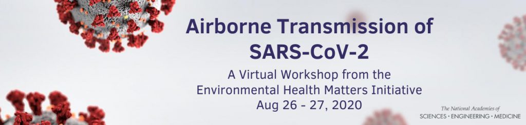 """NAS """"Airborne Transmission of SARS-CoV-2"""" meeting webcast available #Covid19"""